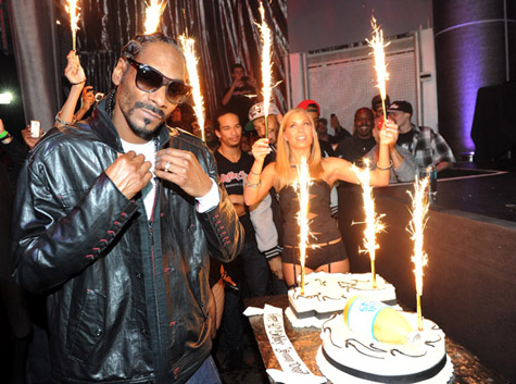 Snoop Dogg Celebrates 40th Birthday at Rolling Stone LA