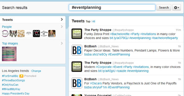 Twitter is a Great Marketing Tool for Event Planners