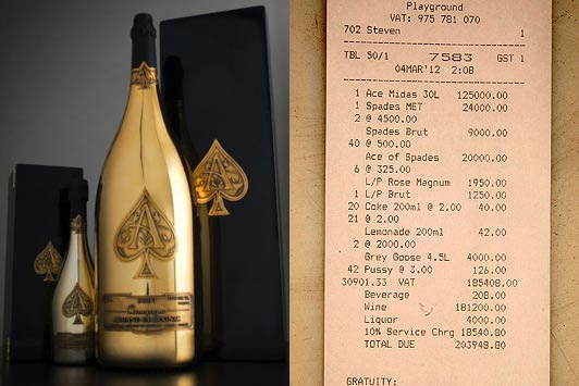 "Most Expensive Bar Tab Racked Up at Liverpool Club ""PlayGround"""