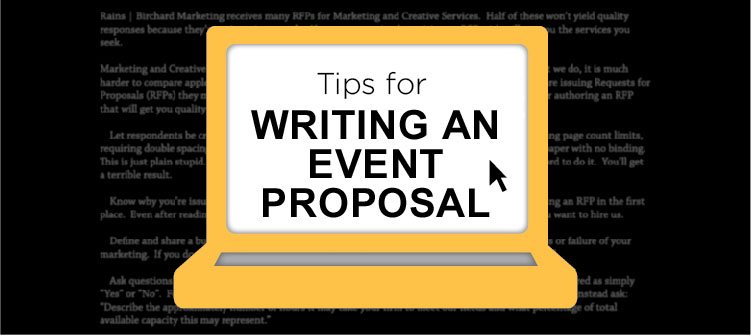 How to Write an Event Planning Proposal